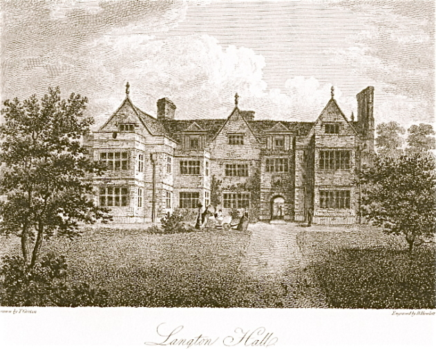 Engraving of Langton Hall, 1805