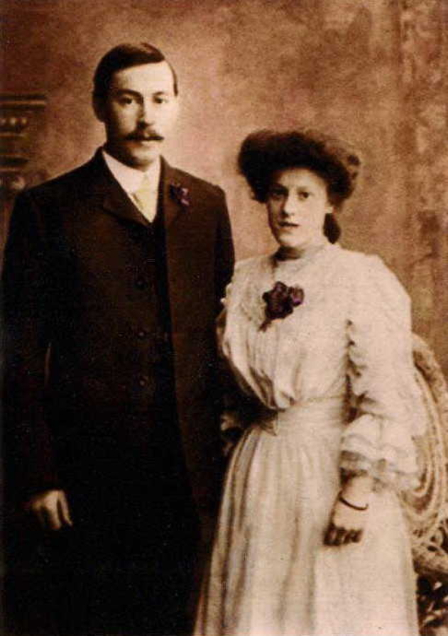 George and Beatrice on their wedding day 1907. Courtesy of Carol Hitchcock  granddaughter of the couple.